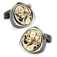 Запонки Watch Cufflinks Steampunk Chrome Movement 70714